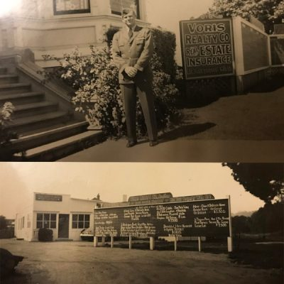 Vintage Photos of First Blue Angel Butch Voris In Front Of Voris Realty